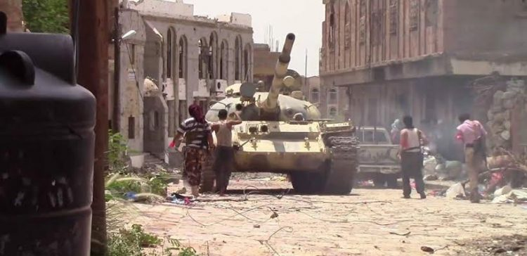 Failed attempts by the militia to restore its positions east of Taiz