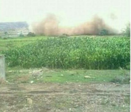 Houthi-Saleh militias bombed house in al-Bayda