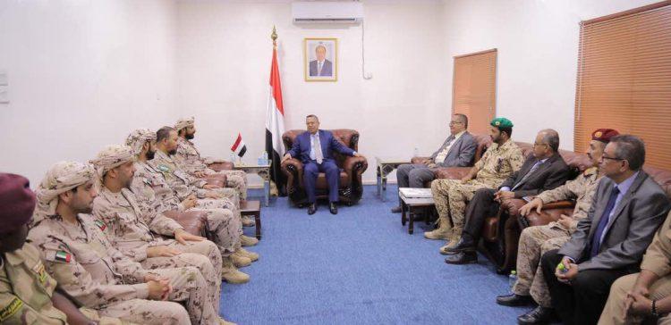 PM meets Arab Coalition commanders in Aden