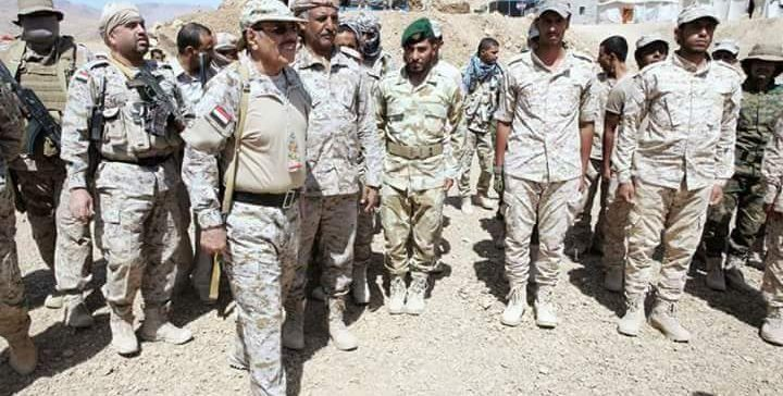 VP Lt. Gen. Ali Mohsen visits warfronts in Sana'a and Marib..pictures