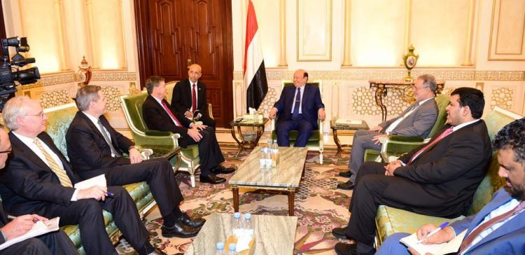 President Hadi receives US Acting Assistant Secretary of State.