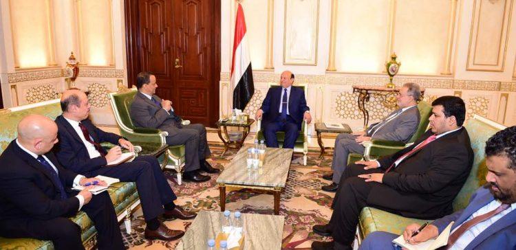 President Hadi receives UN Envoy