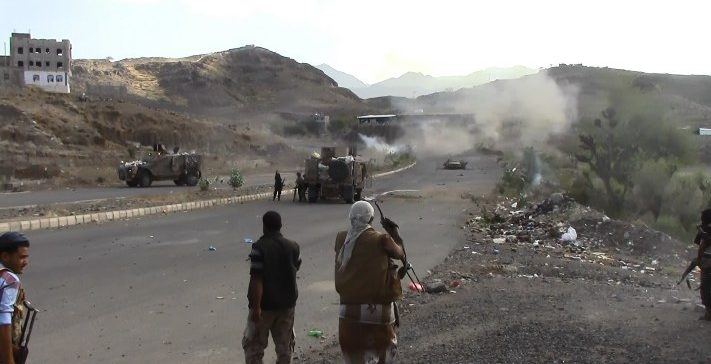 Taiz…Army forces bomb militias' positions, inflicted them heavy losses.