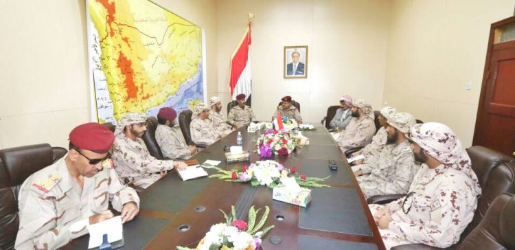 (Lt Gen) Al-Maqdeshi meets with Arab Coalition Forces Command in Marib