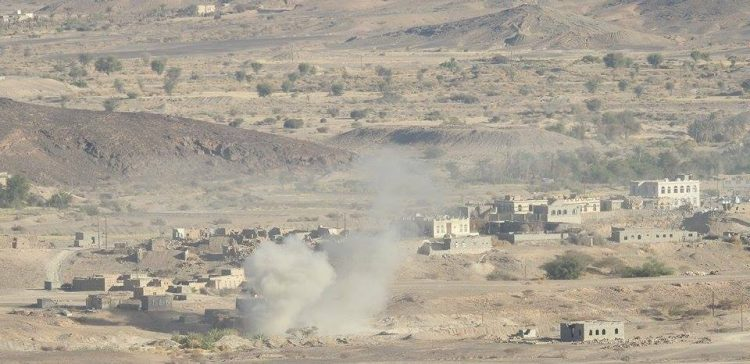 More 100 Houthi coupists killed in airstrikes, artillery rounds eastern Sana'a