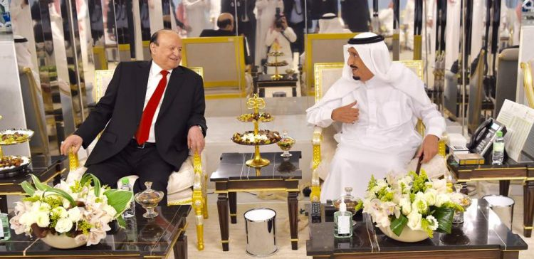 King Salman receives President Hadi in Jeddah