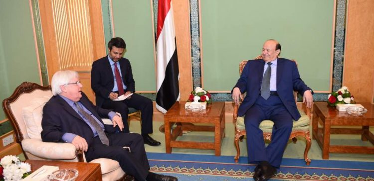 Hadi receives UN special envoy for Yemen