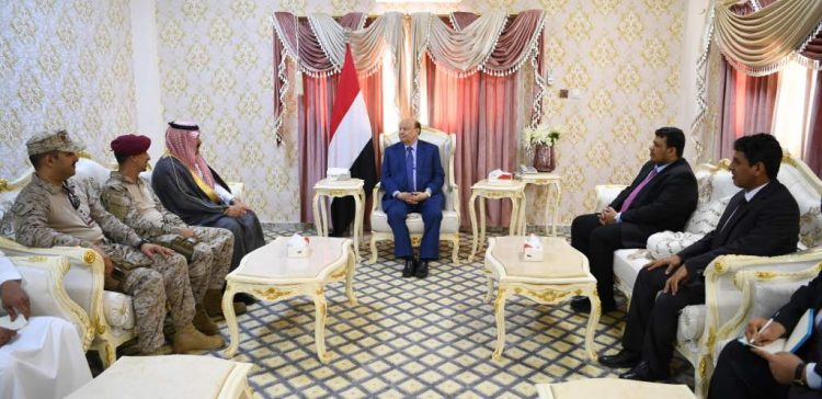 Hadi speaks highly of distinguished relations with Saudi Arabia