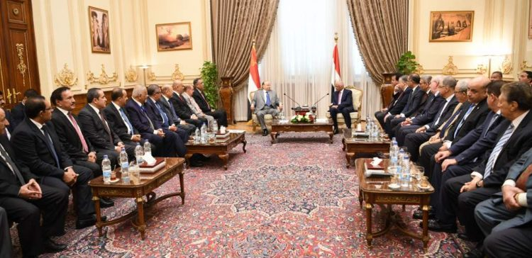 President Hadi calls GPC leaders for integration for facing coup, restoring the state