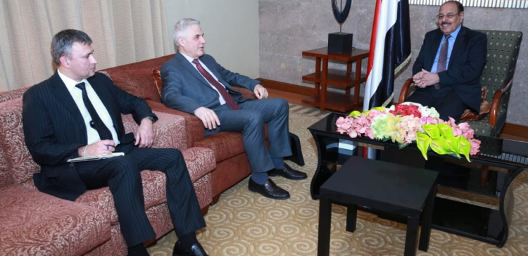 VP,Russian Ambassador discuss Yemen latest developments