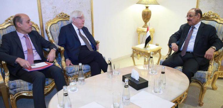 VP meets with UN Secretary General's envoy to Yemen