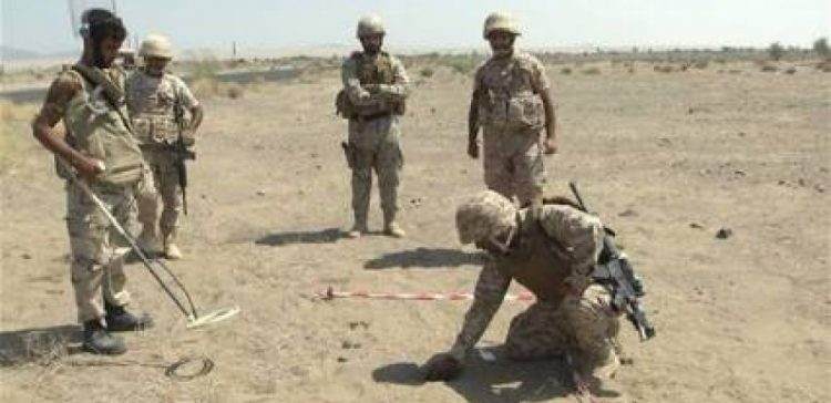 National army destroyed thousand of Houthi-laid landmines in Sa'ada