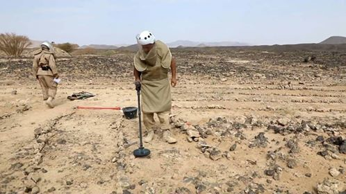 Army's engineers remove hundreds of mines and explosive Hodeida