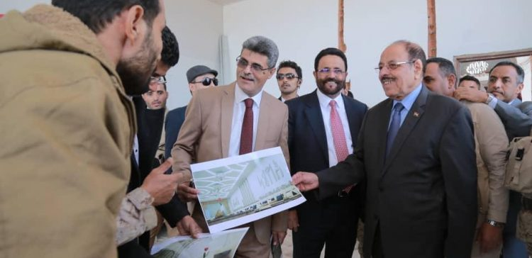 VP inspects work in progress for repairing Republican Palace in Marib