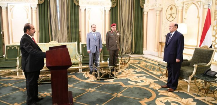 President Hadi takes oath from newly appointed ministers of defense, planning, justice