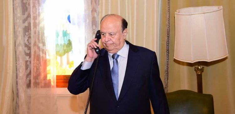 President Hadi conducts phone call with Governor of Marib