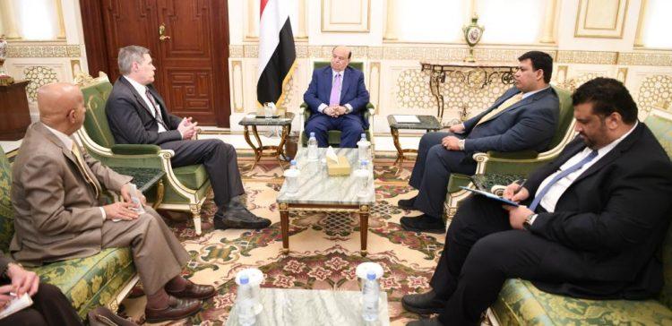 President Hadi appreciates US efforts to support Yemen