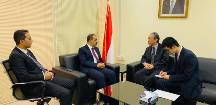 Minister of Information meets with Chinese Ambassador to Yemen