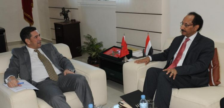 Al-Asbahi, Morroccan Minister discuss increasing scholarships for Yemenis