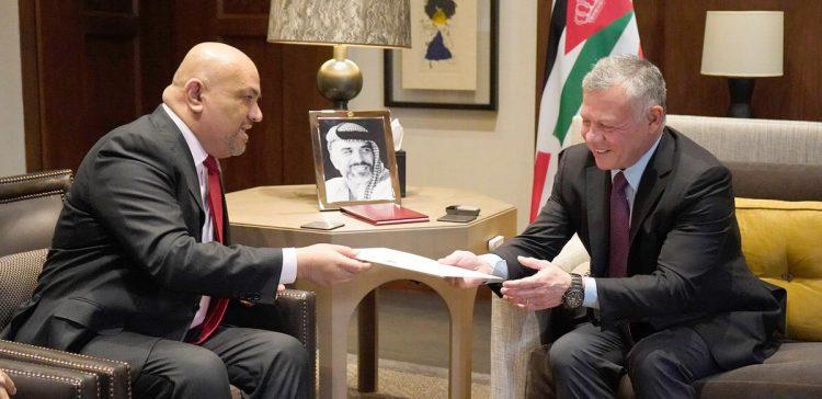 FM delivers a written letter to Jordanian Monarch