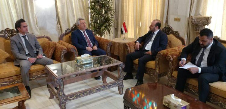 Yemen Minister, Turkish ambassador discuss Turkish grants