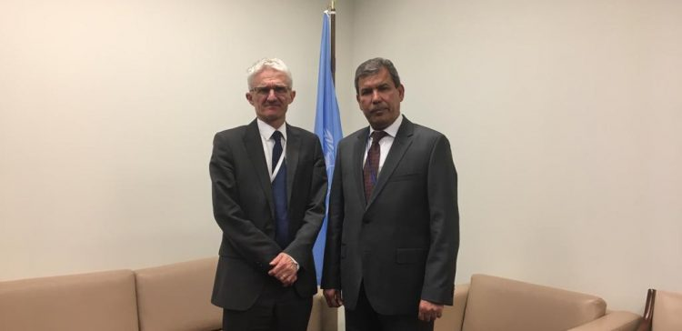 Yemen's UN rep. meets UN Under-Secretary-General for Humanitarian Affairs