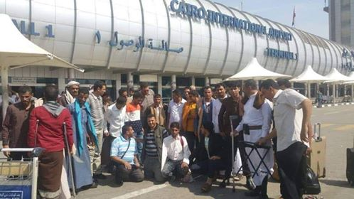 22 war injured persons fly to Egypt for treatment