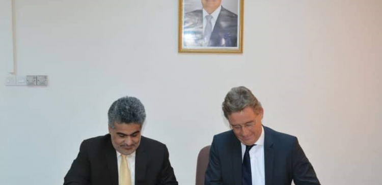 Dep. Planning minister signs agreement with Frederic Ebert Foundation