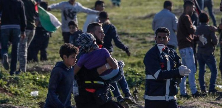 Palestinian hit by Israeli fire at border dies, says Gaza ministry