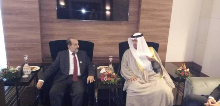 Yemeni Justice Minister meets his Kuwaiti counterpart
