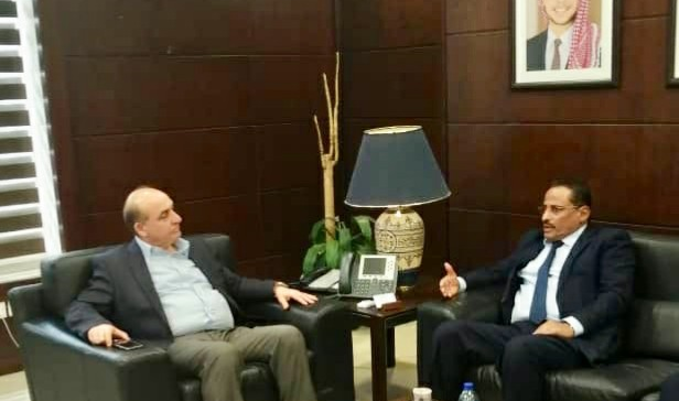 Minster of Transports meets with his Jordanian counterpart