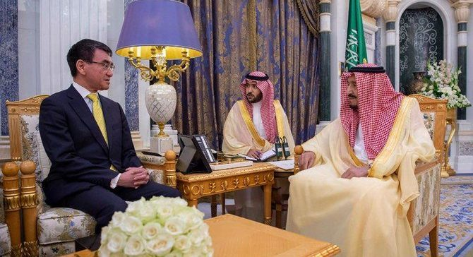King Salman meets Japanese FM in Riyadh