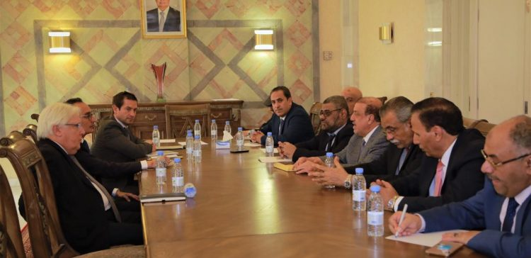 Parliament speaker & parliamentary blocs meet UN envoy