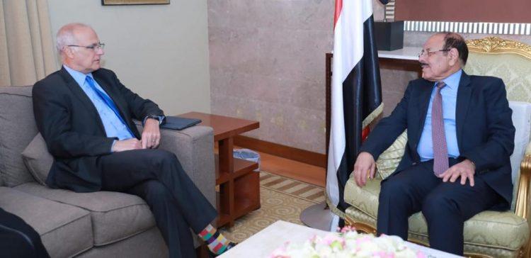 VP, UK Ambassador discuss situation developments in Yemen