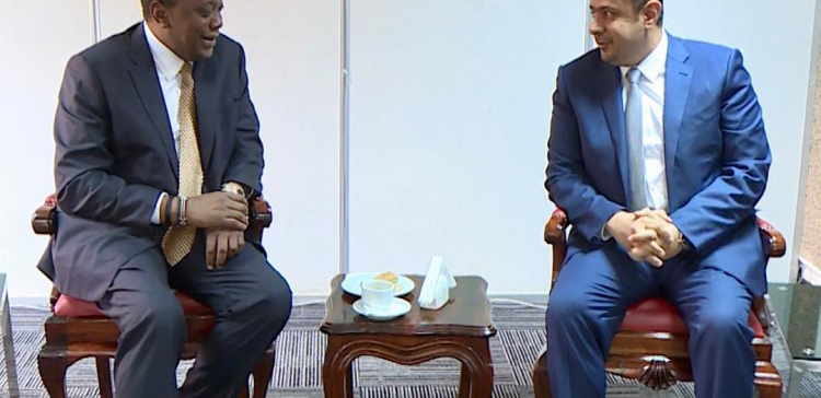 Kenyan President receives Prime Minister