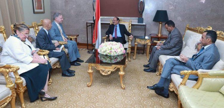 VP briefs US ambassador on Houthi-made humanitarian crisis