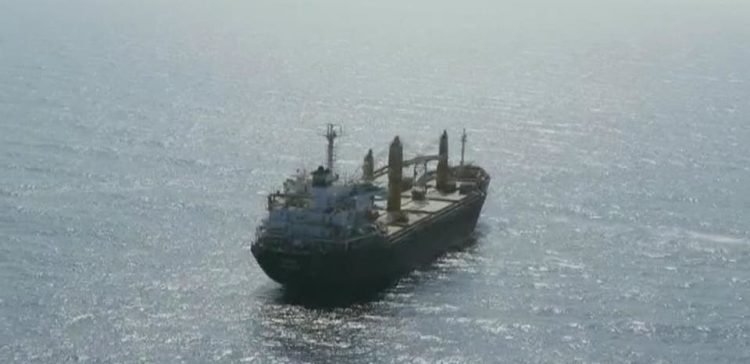 Arab Coalition evacuates injured crew member of an Iranian ship