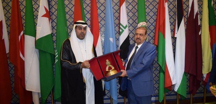 Al-Barakani meets with Speaker of Arab Parliament