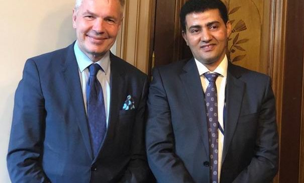 Arroaini meets with Finnish Foreign Minister