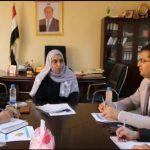 Al-Kamal, UNICEF official discuss cash payments project