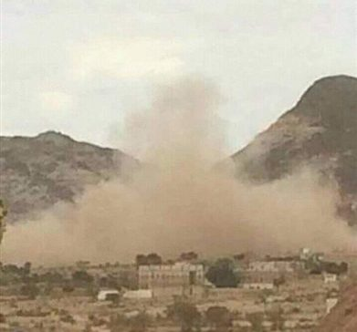 Houthi militia shells civilians houses in Al-Bayda