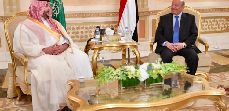 President Hadi receives Saudi's Defense Minister
