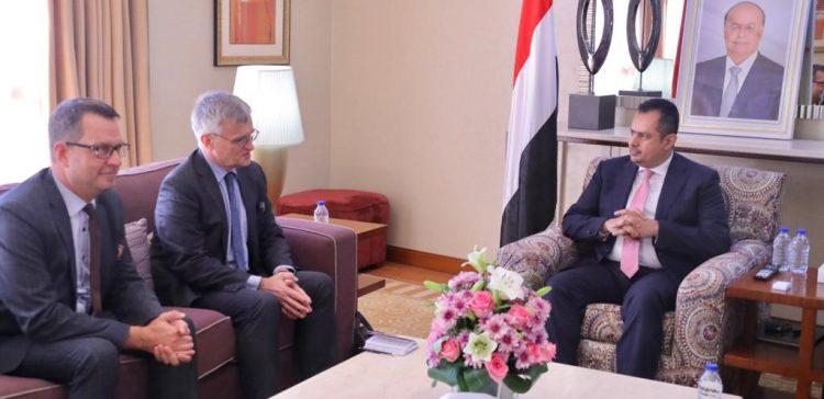 PM, Sweden's Envoy discuss developments in Yemen