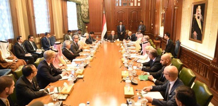 President Hadi meets G-20 ambassadors accredited to Yemen