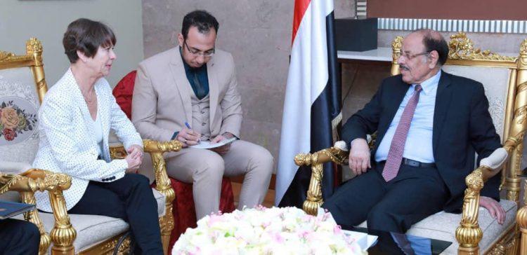 VP meets German ambassador to Yemen