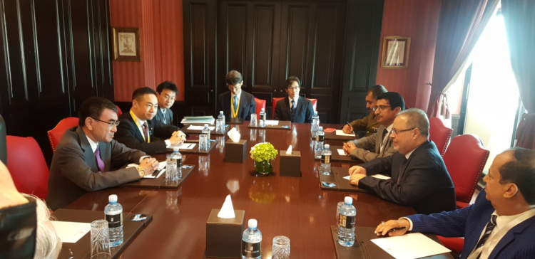 Presidential advisor, Japan Defense Minister discuss Houthi destabilizing of regional security