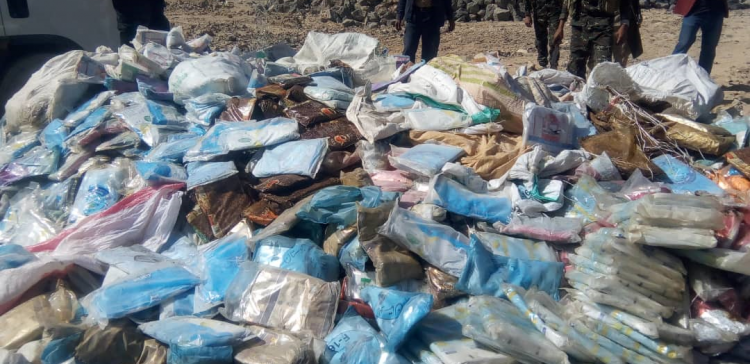 About 3,343 kg of Hashish destroyed in Marib