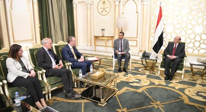 President Hadi receives British Foreign Minister