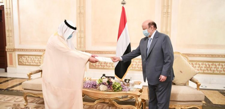 President Hadi receives letter from Emir of Kuwait