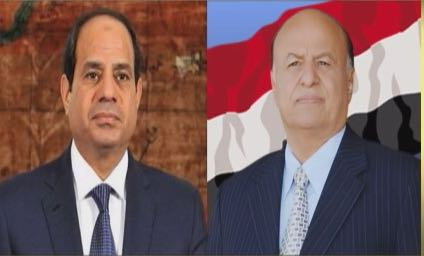 President Hadi congratulates his Egyptian counterpart on the 6th of October Victory